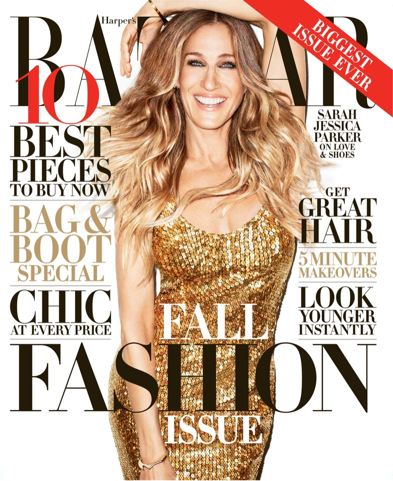 Sarah Jessica Parker Shines on Harper's Bazaar US September 2013 Cover