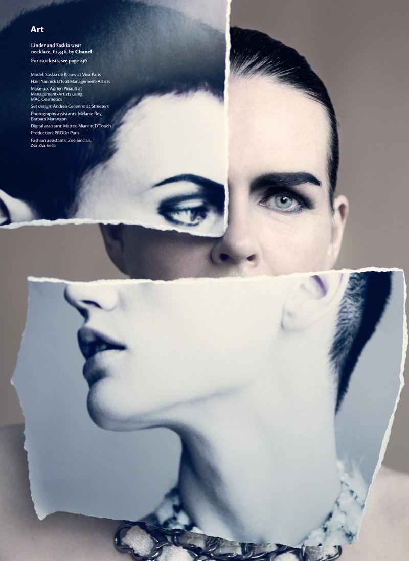 saskia paolo roversi shoot10 Saskia de Brauw Poses for Paolo Roversi in Wallpapers September Issue