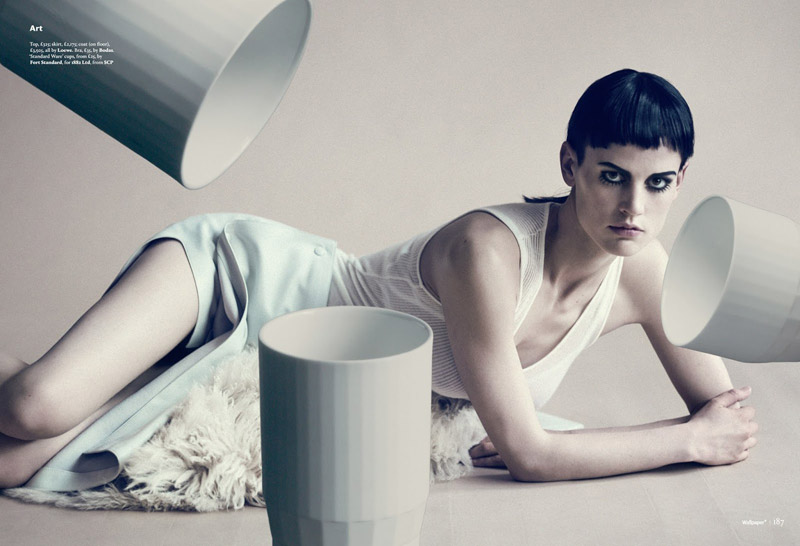 Saskia de Brauw Poses for Paolo Roversi in Wallpaper's September Issue