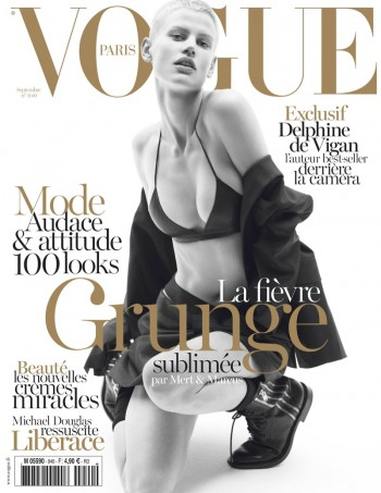 Saskia de Brauw Gets Grunge in Saint Laurent for Vogue Paris September 2013 Cover