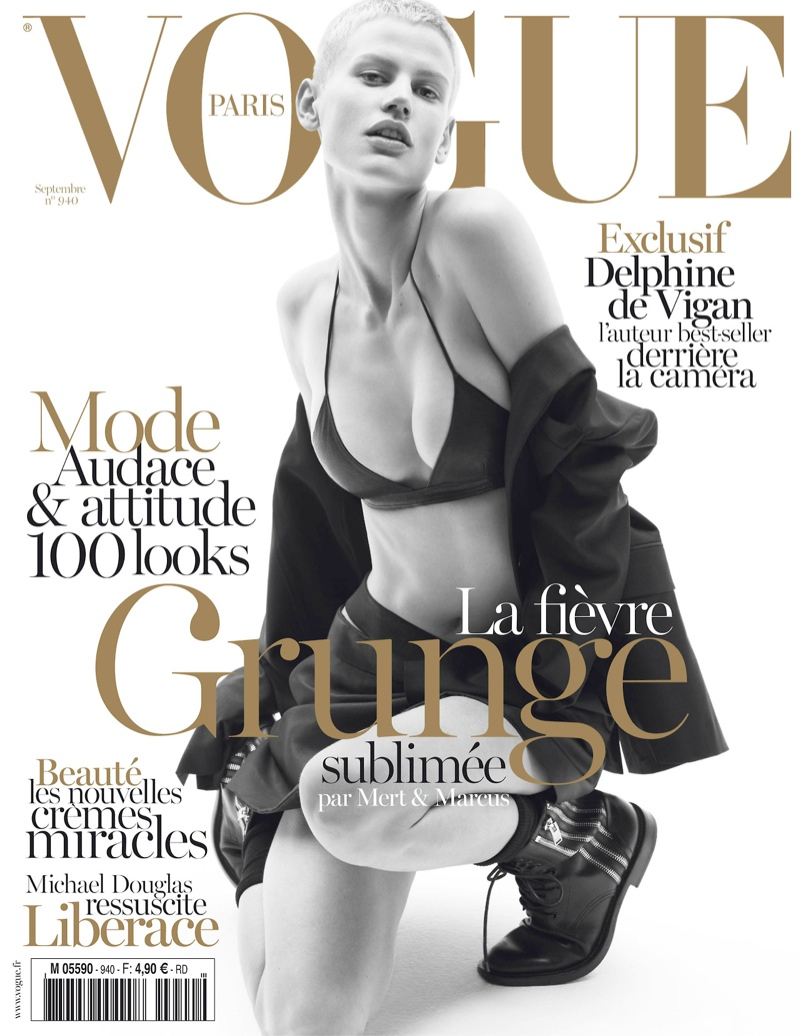 saskia vogue france cover Saskia de Brauw Gets Grunge in Saint Laurent for Vogue Paris September 2013 Cover