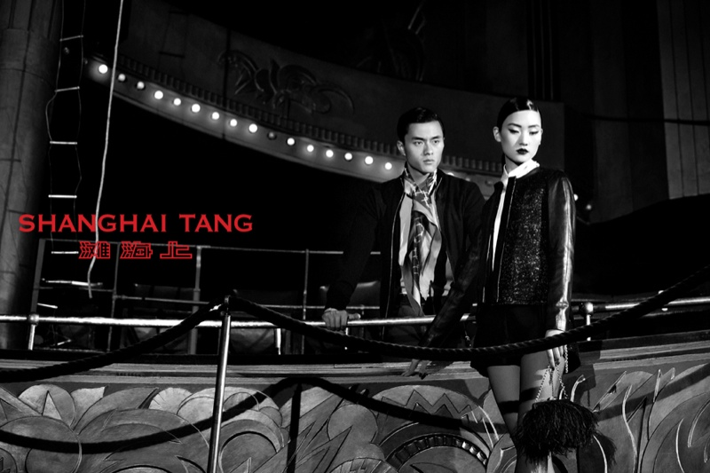 shanghai tang fall ads11 Lina Zhang Fronts Shanghai Tang Fall 2013 Ads by Richard Bernardin