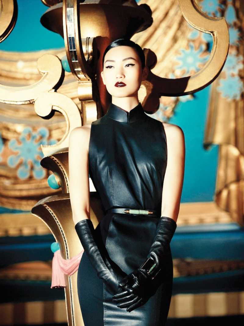 shanghai tang fall ads12 Lina Zhang Fronts Shanghai Tang Fall 2013 Ads by Richard Bernardin