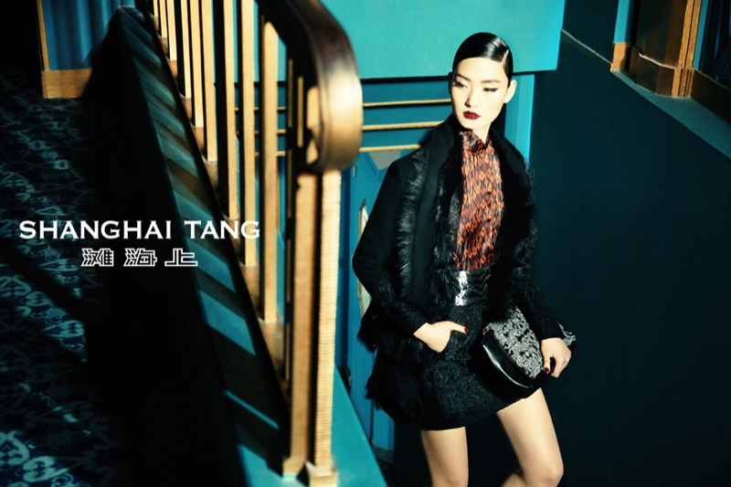 Lina Zhang Fronts Shanghai Tang Fall 2013 Ads by Richard Bernardin