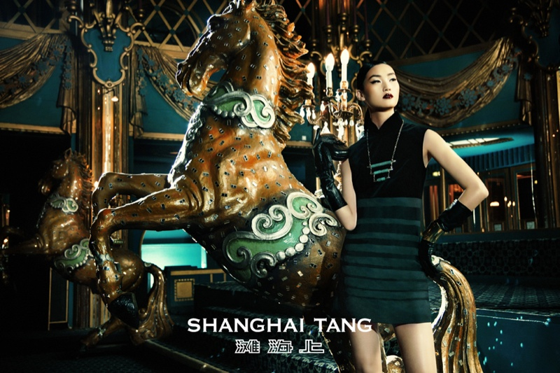 shanghai tang fall ads2 Lina Zhang Fronts Shanghai Tang Fall 2013 Ads by Richard Bernardin