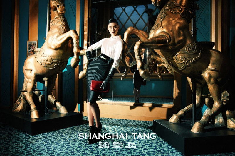 shanghai tang fall ads5 Lina Zhang Fronts Shanghai Tang Fall 2013 Ads by Richard Bernardin