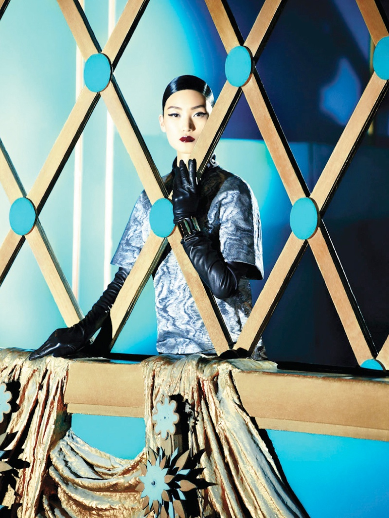 shanghai tang fall ads6 Lina Zhang Fronts Shanghai Tang Fall 2013 Ads by Richard Bernardin