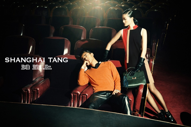 shanghai tang fall ads7 Lina Zhang Fronts Shanghai Tang Fall 2013 Ads by Richard Bernardin