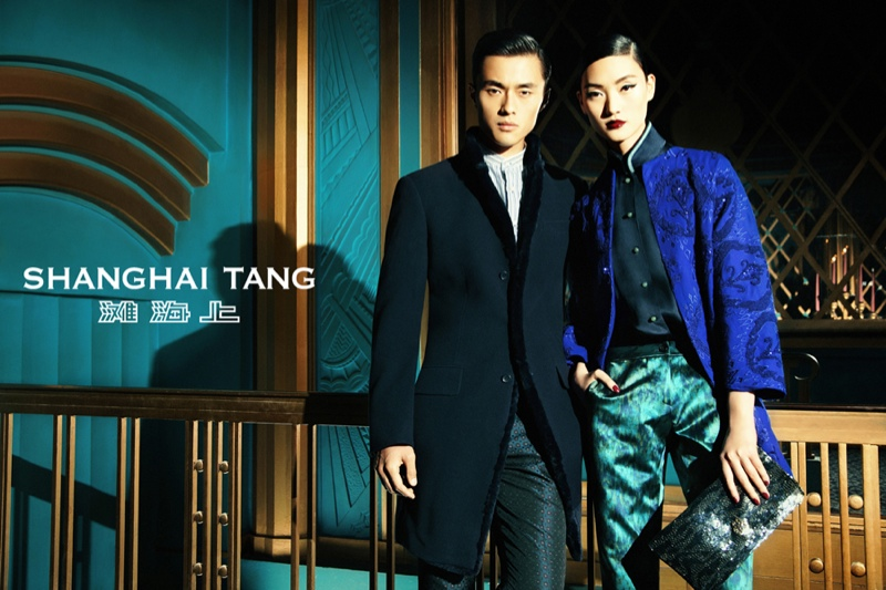 shanghai tang fall ads8 Lina Zhang Fronts Shanghai Tang Fall 2013 Ads by Richard Bernardin