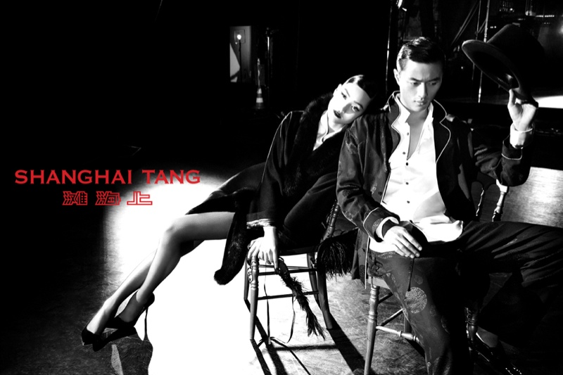 shanghai tang fall ads9 Lina Zhang Fronts Shanghai Tang Fall 2013 Ads by Richard Bernardin