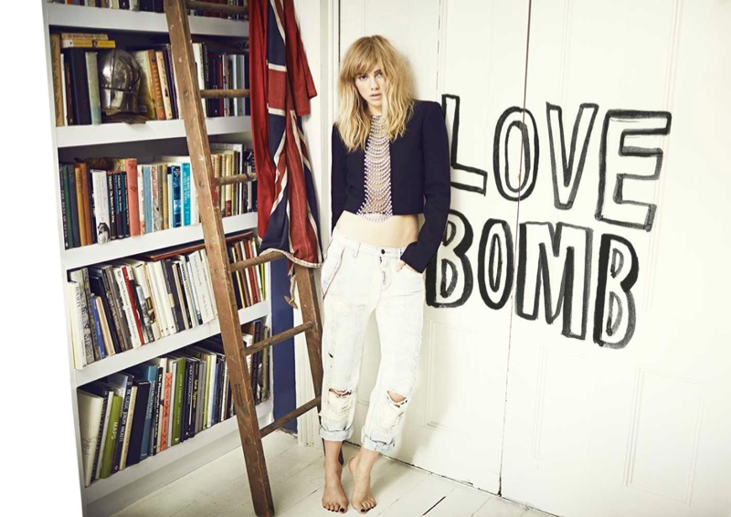 suki waterhouse3 Suki Waterhouse Fronts Sass & Bide Fall 2013 Campaign