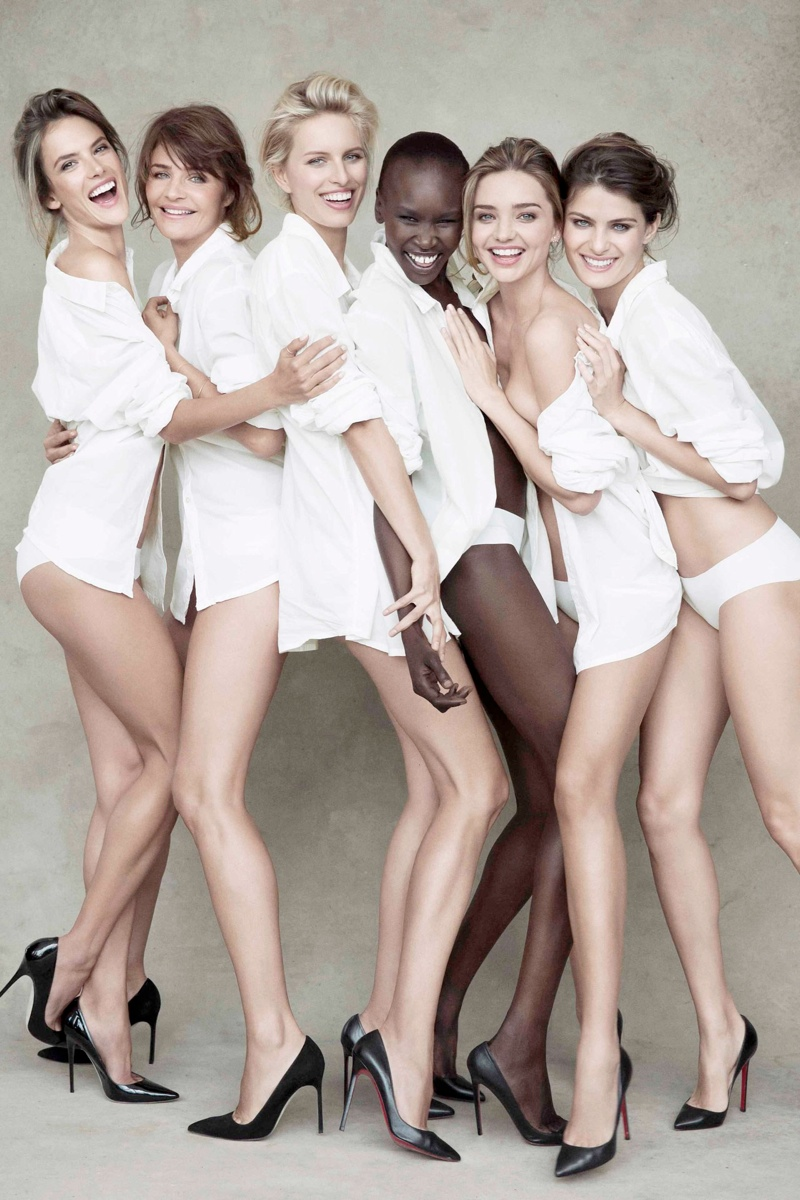 supermodels pirelli2 See a Preview of Pirellis 2014 Calendar Starring Miranda Kerr, Helena Christensen & More