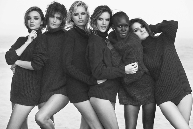 supermodels pirelli4 See a Preview of Pirellis 2014 Calendar Starring Miranda Kerr, Helena Christensen & More