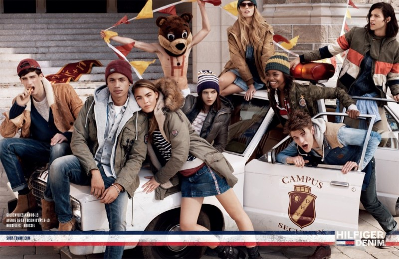 tommy denim fall2 800x520 Tommy Hilfiger Highlights College Life for Fall 2013 Denim Campaign