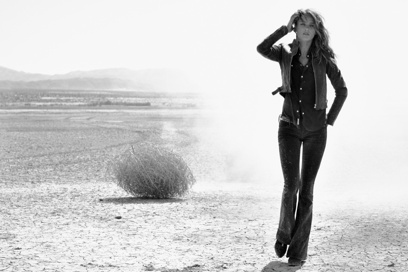 true religion fall10 Karmen Pedaru Hits the Desert for True Religions Fall 2013 Ads