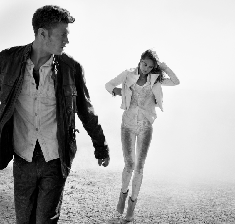 true religion fall3 Karmen Pedaru Hits the Desert for True Religions Fall 2013 Ads