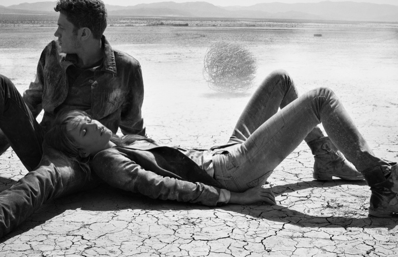 true religion fall4 Karmen Pedaru Hits the Desert for True Religions Fall 2013 Ads