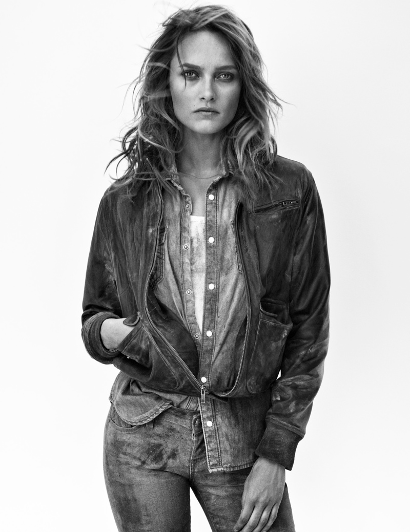 true religion fall5 Karmen Pedaru Hits the Desert for True Religions Fall 2013 Ads