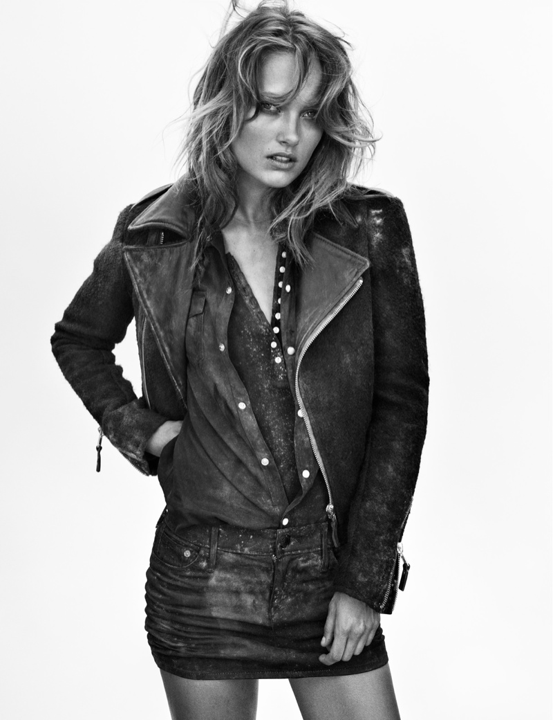 true religion fall6 Karmen Pedaru Hits the Desert for True Religions Fall 2013 Ads