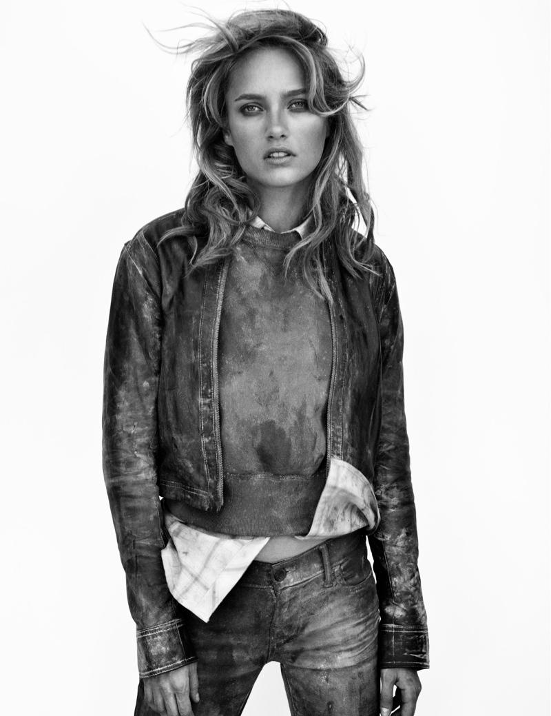 Karmen Pedaru Hits the Desert for True Religion's Fall 2013 Ads