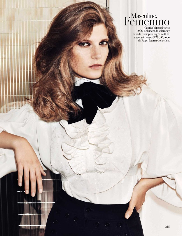 valerija kelava model12 Valerija Kelava Models Fall Trends for Hasse Nielsen in Vogue Spain