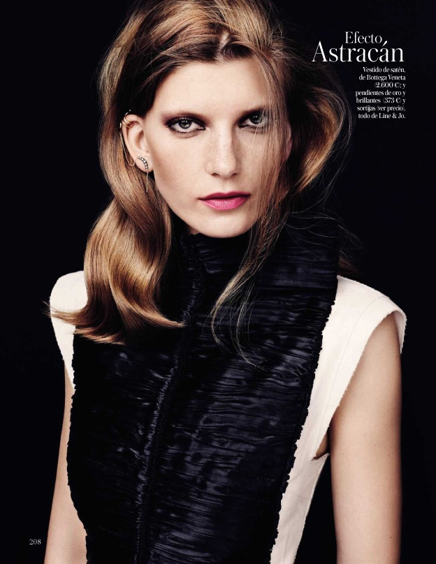 valerija kelava model5 Valerija Kelava Models Fall Trends for Hasse Nielsen in Vogue Spain