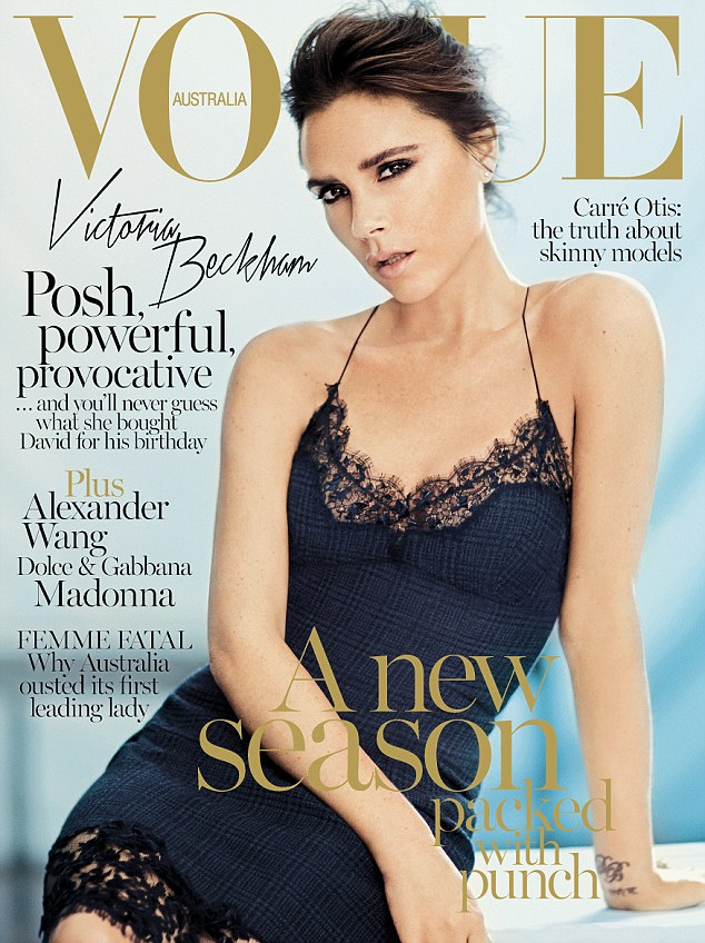 victoria vogue au cover Victoria Beckham Covers Vogue Australia September 2013 in Louis Vuitton