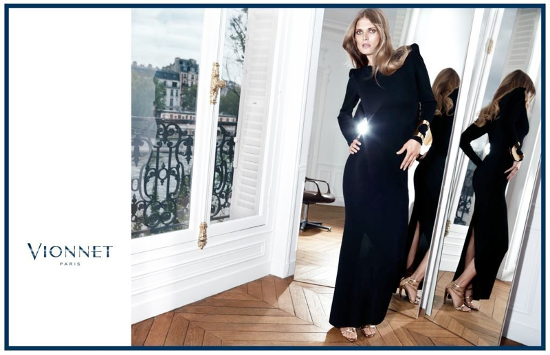 vionnet fw ads3 Malgosia Bela Gets Glam for Vionnet Fall 2013 Ads by Katja Rahlwes