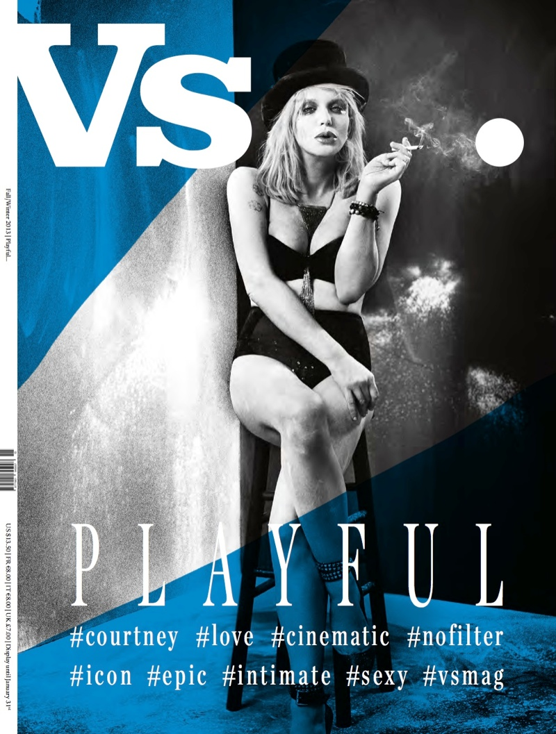 vs new covers4 Eva Green, Courtney Love & Jessica Stam Cover Vs. Magazine F/W 2013