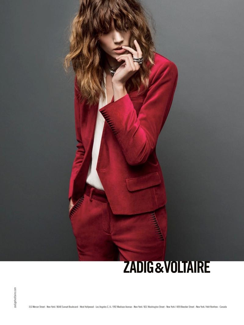 zadig voltaire fw ads4 Freja Beha Erichsen Stars in Zadig & Voltaire Fall 2013 Ads