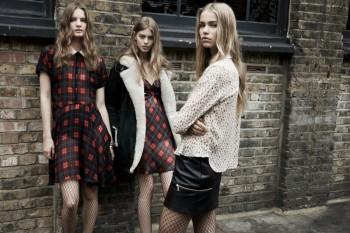 Zara TRF Fall 2013 Ads Star Ondria Hardin, Kirstin Liljegren & Tilda Lindstam