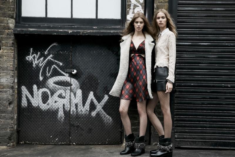 zara trf fall5 Zara TRF Fall 2013 Ads Star Ondria Hardin, Kirstin Liljegren & Tilda Lindstam