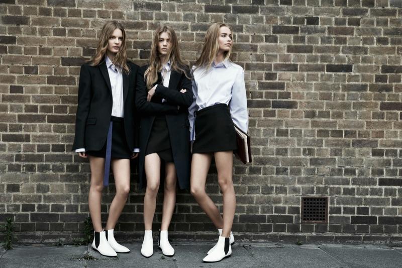 zara trf fall8 Zara TRF Fall 2013 Ads Star Ondria Hardin, Kirstin Liljegren & Tilda Lindstam