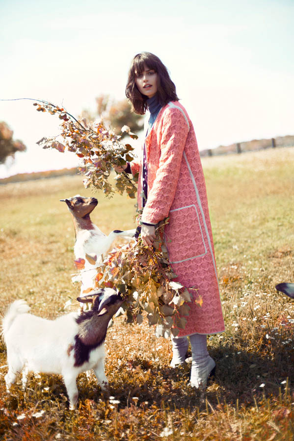Marta Dyks Poses In the Countryside for Elle Poland by Adam Plucinski