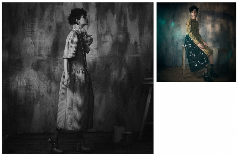 Magda Laguinge Puts Feminine Spin on Punk for Wonderland by Dima Hohlov