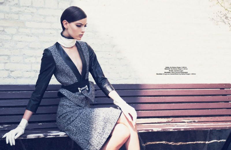 ALongGoodbye 092013 6 800x521 Marikka Juhler Stars in Elle Denmark September 2013 by Oliver Stalmans