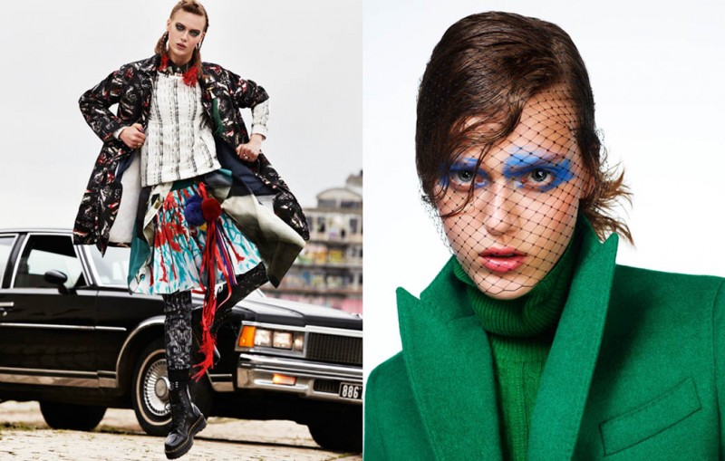 Tess Hellfeuer Gets Colorful for Glamour Paris October 2013 by Aingeru Zorita