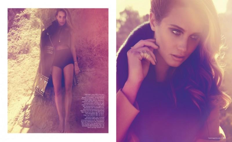 Hannah Davis Poses in Malibu for Dove Shore in Foam Magazine Shoot