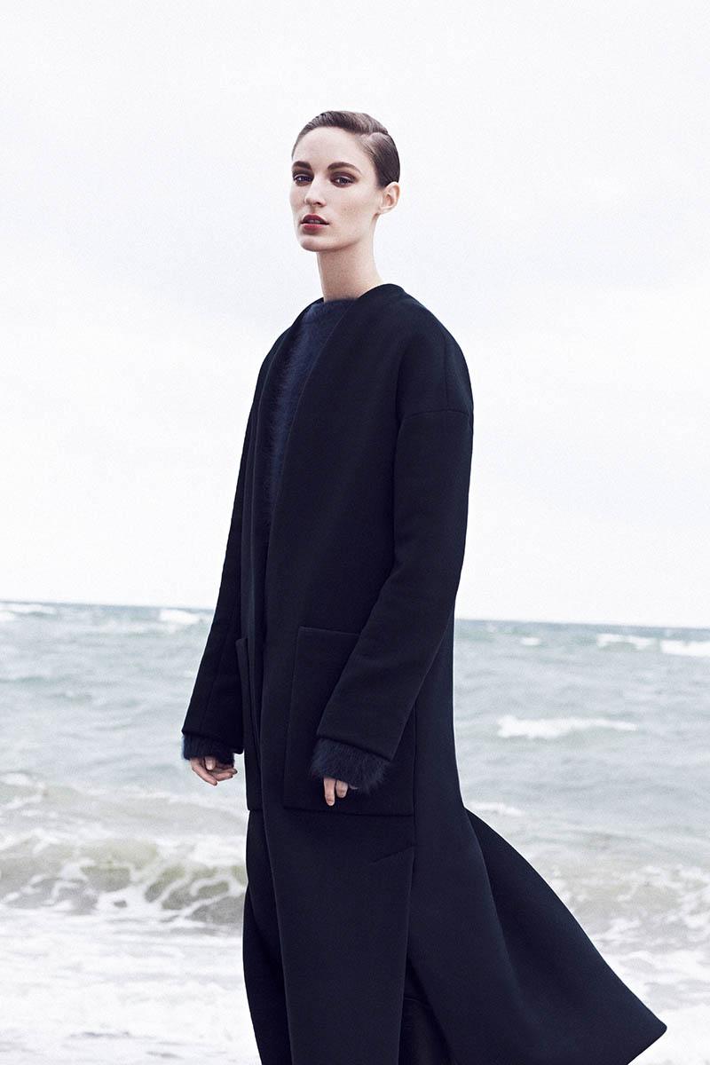 Franzi Mueller Models Chic Outerwear for EMEZA's Fall 2013 Ads