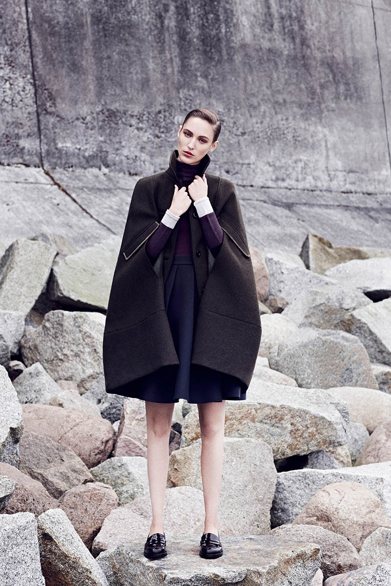 EMEZA campaign AW 13 Raoul coat Franzi Mueller Models Chic Outerwear for EMEZAs Fall 2013 Ads