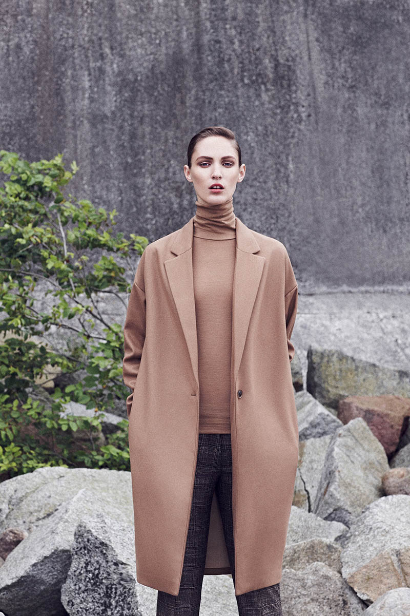 Franzi Mueller Models Chic Outerwear for EMEZA's Fall 2013 Ads