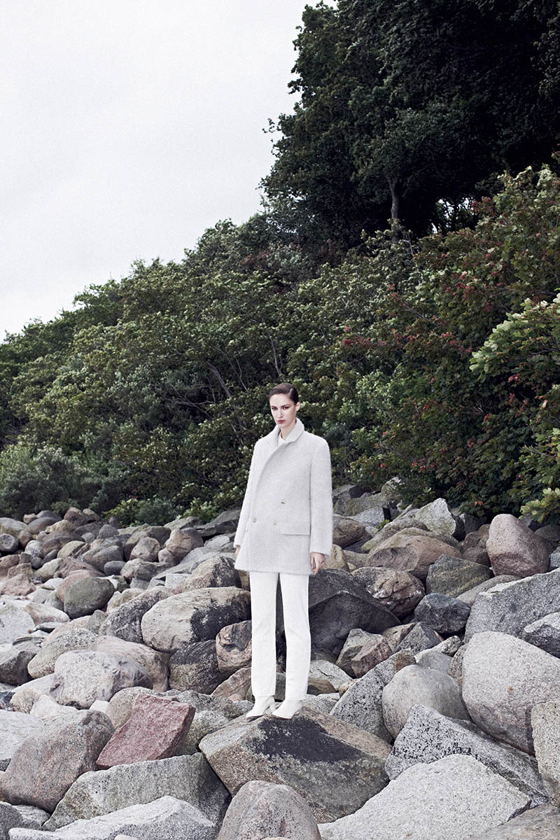 EMEZA campaign AW 13 blk dnm Franzi Mueller Models Chic Outerwear for EMEZAs Fall 2013 Ads