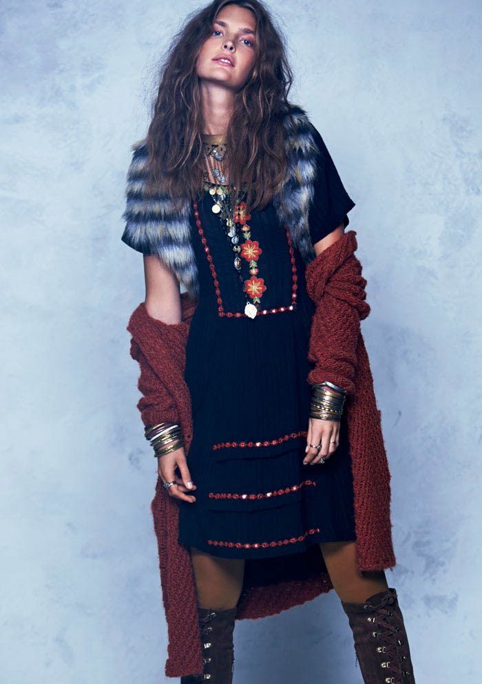 Free People Folk Tale September LB 1 Gertrud Hegelund Models Folk Style for Free Peoples September Lookbook