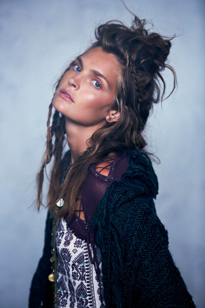 Free People Folk Tale September LB 10 Gertrud Hegelund Models Folk Style for Free Peoples September Lookbook
