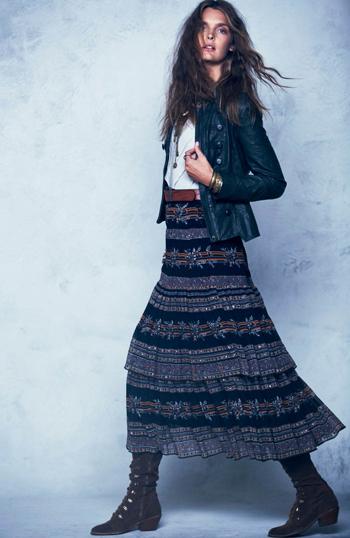 Free People Folk Tale September LB 3 Gertrud Hegelund Models Folk Style for Free Peoples September Lookbook