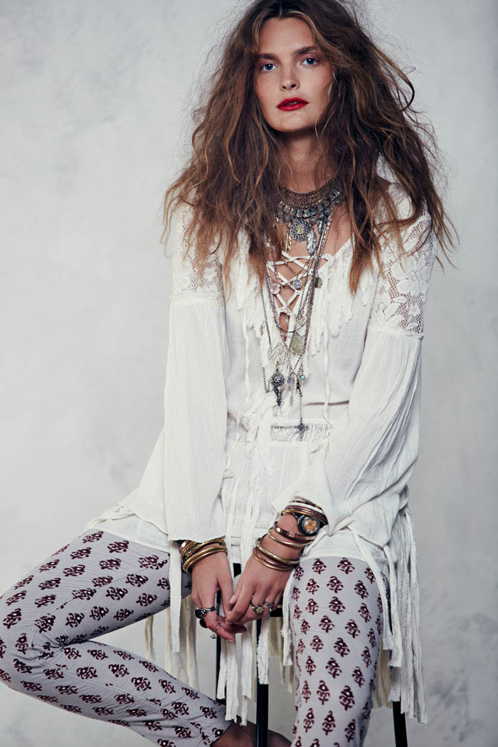Free People Folk Tale September LB 4 Gertrud Hegelund Models Folk Style for Free Peoples September Lookbook