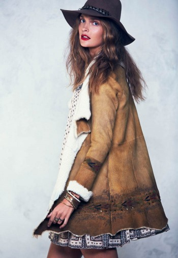 Gertrud Hegelund Models Folk Style for Free People's September Lookbook