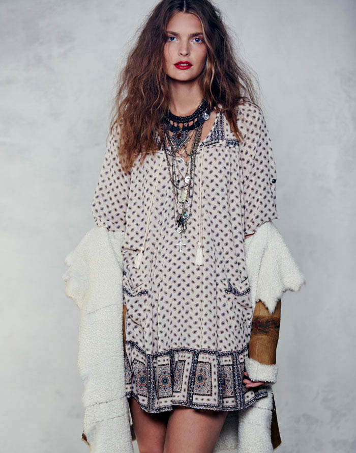 Free People Folk Tale September LB 7 Gertrud Hegelund Models Folk Style for Free Peoples September Lookbook