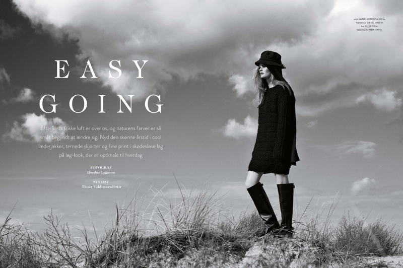 Lin 1 Lin Rosenbeck Goes Outdoors for Costume Magazine by Hordur Ingason