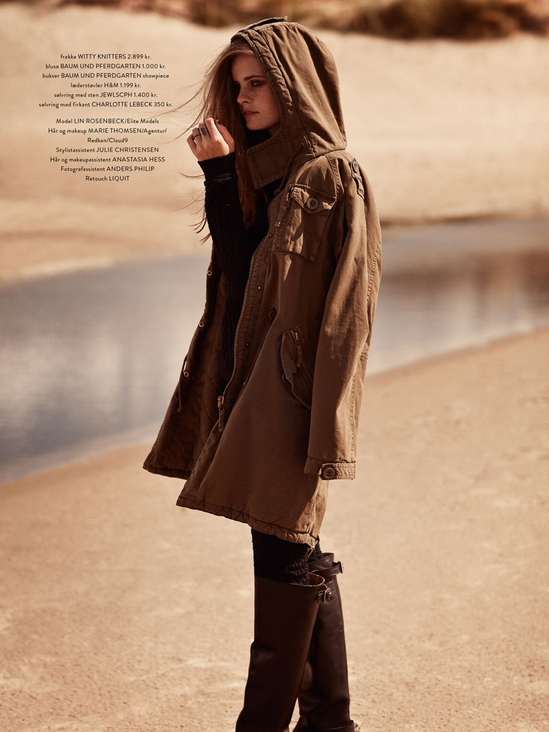 Lin 7 Lin Rosenbeck Goes Outdoors for Costume Magazine by Hordur Ingason
